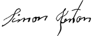 Simon Kenton - Image: Simon Kenton Signature