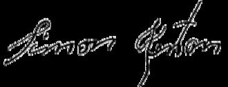 Simon Kenton - Image: Simon Kenton Signature