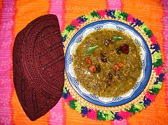 "Sindhi cuisine - The Sindhi ""Sai bhaji"" is a famous curry"