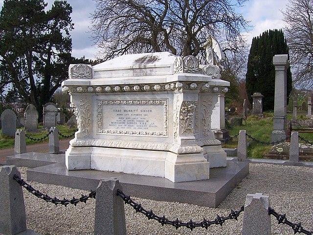 Могила Зингера на кладбище в Торки