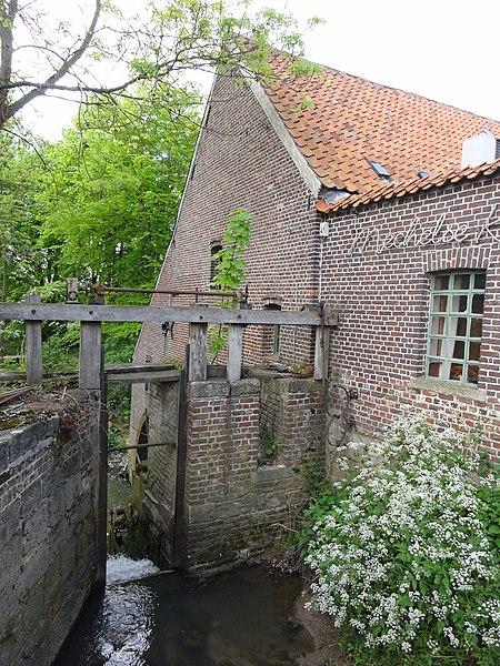 Moldergemmolen watermill in Sint-Denijs-Boekel. Sint-Denijs-Boekel, Zwalm, East Flanders, Belgium