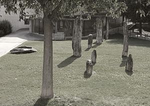 Sion, Switzerland - Menhir at Le Petit-Chasseur