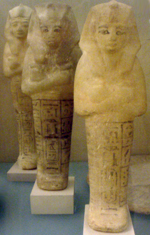 KV47 - Image: Siptah Shabtis From KV54 Metropolitan Museum