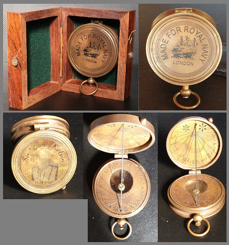 Sir Lord Kelvin Mariner%27s Compass with Sun Dial.jpg