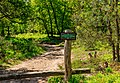 Slagboom voor pad in rustgebied. Locatie, Kroondomein Het Loo.jpg