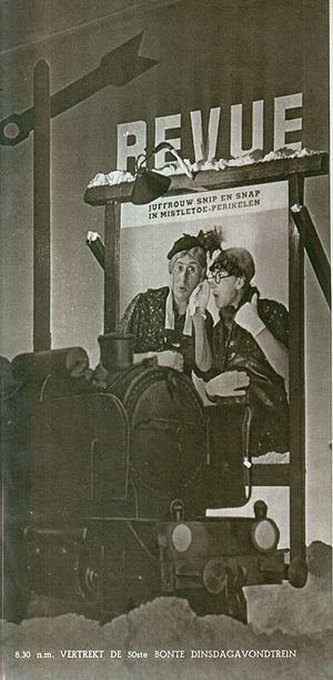 Snip en Snap - Snip en Snap in a Dutch radioshow, 1937