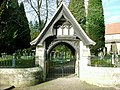 Snowdrops by the lych gate at Mitford Church - geograph.org.uk - 608806.jpg