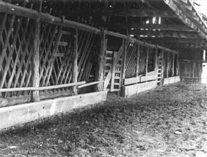 Sod House Ranch - Image: Sod House Ranch feed stalls