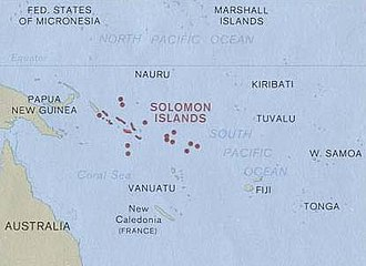 Geography of the Solomon Islands - Solomon Islands in relation to the rest of Oceania.