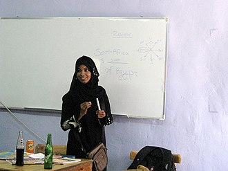 Somali diaspora - A Somali high school student in Cairo, Egypt.