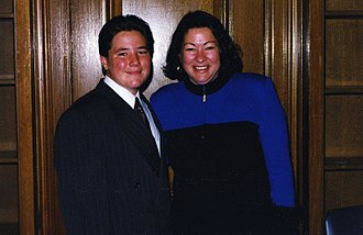 Sonia Sotomayor - Judge Sonia Sotomayor with her godson at the United States Court of Appeals signing ceremony in 1998