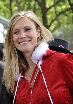 Sophie Hilbrand met PvdA Canal Parade 2012..jpg