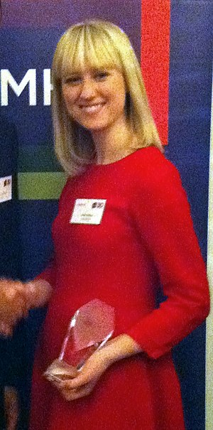 Sophy Ridge - Sophy Ridge receiving the 30 to Watch award from MHP Communications in 2012