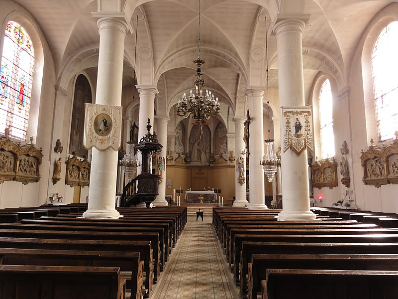 Sorcy-Saint-Martin (Meuse) église Saint-Rémi, intérieur