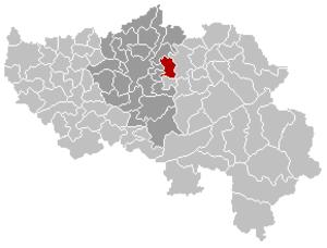 Soumagne - Image: Soumagne Liège Belgium Map