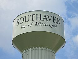 Southaven MS 07 Watertower Starlanding Rd.jpg