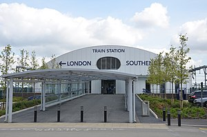 Southend Airport railway station - The station in 2012