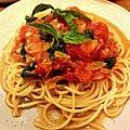 Spaghetti with a minimalist heirloom tomato and basil sauce.jpg