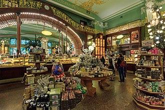 Eliseyev Emporium (Saint Petersburg) - The store's interior after restoration work, 2017.
