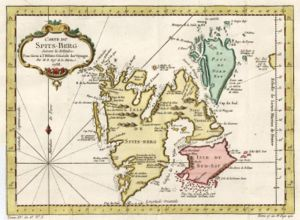 History of Svalbard - Map of Svalbard dating from 1758