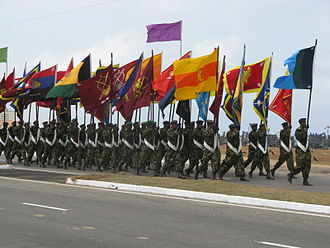 Sri Lanka Army - Sri Lanka Army flags
