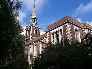 St Mary's Church, Islington - St Mary's Church viewed from the church gardens