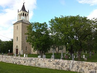 Rural Municipality of St. Andrews - St. Andrews Anglican Church. Built in 1849, it is the oldest stone church in Western Canada.