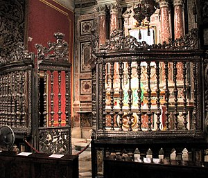 French occupation of Malta - The silver gate in St. John's Co-Cathedral was painted black by the Maltese so that the French troops would not realize that it was made of silver and melt it down into bullion.