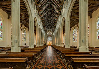 St Edmundsbury Cathedral - Image: St Edmundsbury Cathedral Nave 1, Suffolk, UK Diliff