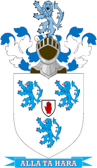 St John-Mildmay baronets - Arms: Argent three lions rampant Azure armed and langued Gules. Crest:  lion rampant guardant Azure.