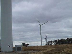 St. Leon Wind Farm - Wind turbines near St. Leon, Manitoba