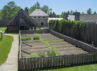 Sainte-Marie among the Hurons - Vegetable garden.