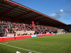 St Mary's Road End, Broadhurst Park – FC United 2015.jpg