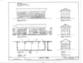 Stable No. 1 - Elevations, Floor Plan and Section - Dudley Farm, Farmhouse and Outbuildings, 18730 West Newberry Road, Newberry, Alachua County, FL HABS FL-565 (sheet 17 of 22).png
