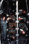 "Stacks of ""litter patients"" are aboard a C-130 Hercules aircraft, 37th Aeromedical Evacuation Group, before takeoff during Exercise Reforger '80 DF-ST-82-04548.jpg"