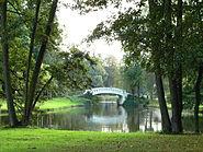Stadtpark Frankfurt Höchst Weiher Bogenbrücke