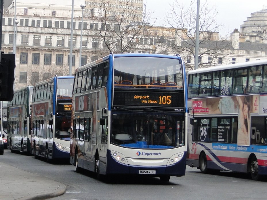 Stagecoach in Manchester bus 19472 (MX58 VBO), 4 February 2012 (cropped)