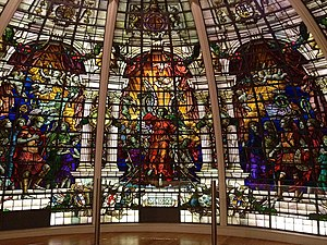 Baltic Exchange (building) - Stained glass window from the old Baltic Exchange building (now in the National Maritime Museum)