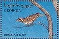 Stamp of Georgia - 1996 - Colnect 292409 - Redwing Turdus iliacus.jpeg