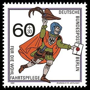 Deutsche Bundespost Berlin - Image: Stamps of Germany (Berlin) 1989, Mi Nr 852