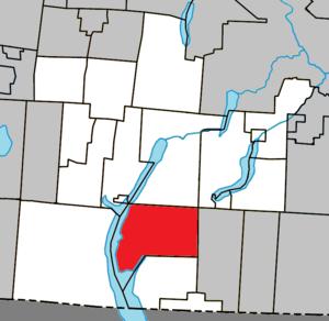 Stanstead, Quebec (township) - Image: Stanstead (township) Quebec location diagram