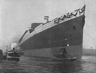 SS Leviathan - Launch of Vaterland, 3 April 1913.