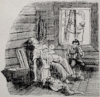 1867 in Sweden - Illustration of starvation in northern Sweden, Famine of 1866–1868