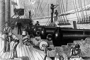 HMS Wolverine (1863) - Gun deck of HMS Wolverine, 1881