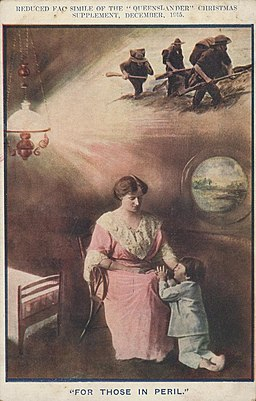 StateLibQld 1 212620 Photograph of a mother and child used on the front cover of The Queenslander Christmas supplement in 1915