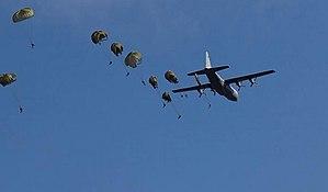 44 Parachute Regiment (South Africa) - Static line para jump from Hercules aircraft 1998