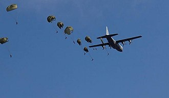 44 Parachute Regiment (South Africa) - Static line para jump from Hercules aircraft 1998
