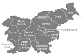 Statistical regions of Slovenia - Image: Statistical regions of Slovenia English