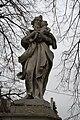 Statue of Saint Joseph with baby in Budišov, Třebíč District.jpg