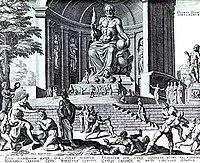 Aπεικόνιση του Αγάλματος του Ολυμπίου Διός.